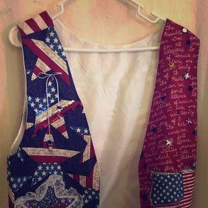 Women's home made Patriotic vest